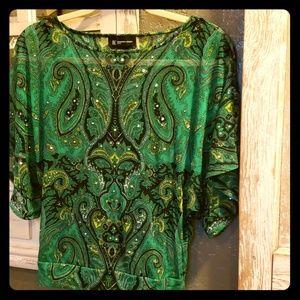 INC batwing jeweled blouse NWOT